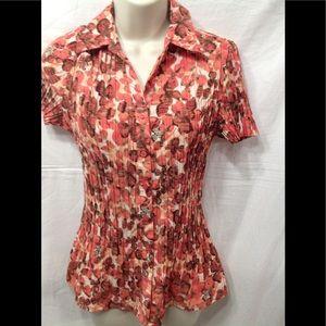 Women's sz Medium LAUURA SCOTT button-down blouse